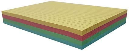 Pack of 100 Record Cards Ruled on Both Sides 5x3in 127x76mm Assorted Colours