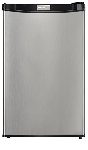 Danby Designer-3.2 Cubic Feet Compact Refrigerator-Stainless Look