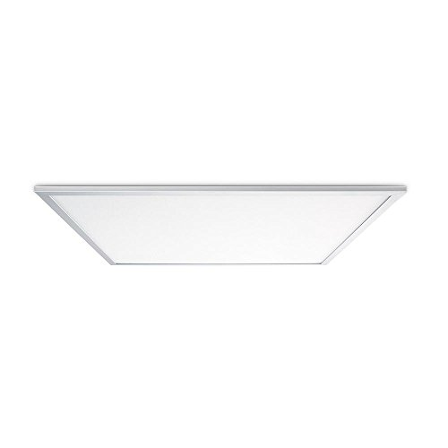 Leviton SKT22-CW Skytile 50-Watt Brushed Aluminum 2 x 2 Integrated LED Flat Panel Light, Cool White Temperature by Leviton