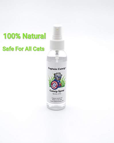 Captain Catnip Organic Liquid Fresh Extract Spray for Cats Nepeta Cataria 4 Ounce