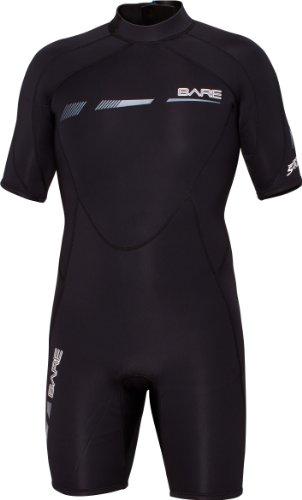 Bare Sport S-Flex 2MM Neoprene Shorty Wetsuit (Black, S)