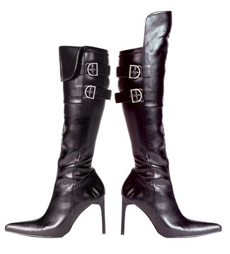 Pirate Black Adult Boots - 8