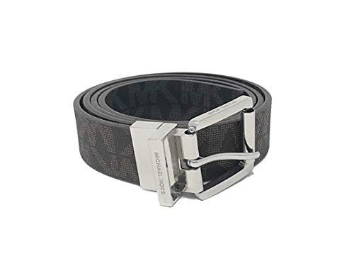 Michael Kors Women's 30mm Brown To Black Reversible MK Logo Monogram Synthetic Leather Belt (M) ()