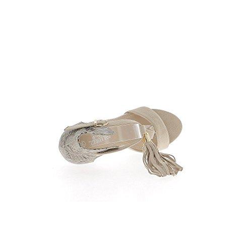 Aspecto amarillento sandalias serpiente y ante de tacón de 11cm de extremo