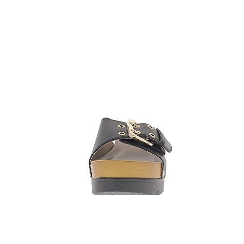 Compensata zoccoli Nero 7cm tacco e vassoio 4 tappetini cm con flangia regolabile