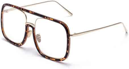 fhccy Quartet Big Frame Glasses Frame Star With The Same Glasses Frame New Fashion Men And Women Glasses