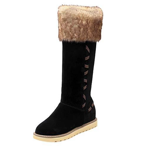 Boots Coolcept Hiver Compensé Genou Noir Femmes Bottes wrq1rtU
