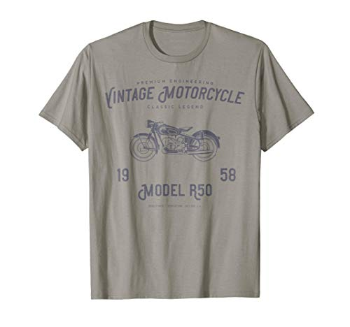Retro Motorcycle T Shirt, Original Vintage Design from Retro Motorcycles and Scooters Tshirts