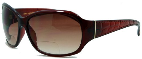 - In Style Eyes Later Gators Bifocal Sunglasses for Women Brown 3.00