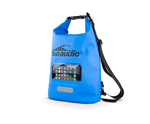 (H2O Audio Floating Dry Bag, 100% Waterproof, Roll Top Closure with a Sealed Smart Phone Window Case,10L Sack for Swimming, Kayaking, Boating, Fishing, Camping and Hiking)