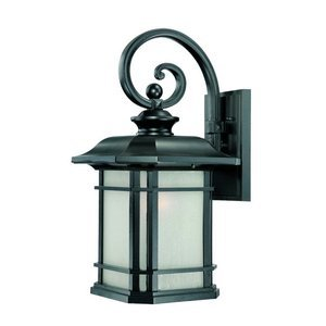 Acclaim 8122BK Somerset Collection 1-Light Wall Mount Outdoor Light Fixture, Matte Black by - Stores Collection Somerset