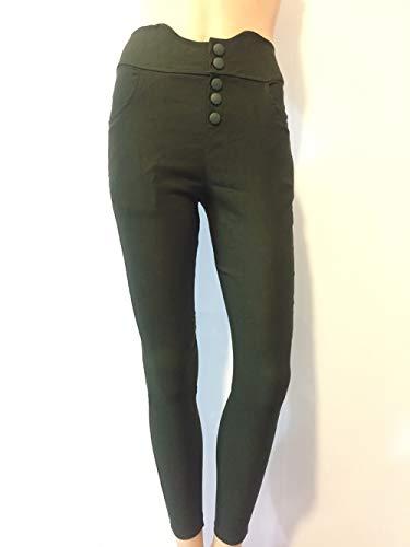 Snone E A Vita Leggings Stretch Alta Stile Donna Matita Europeo Base Skinny Jeans Slim Green Pantaloni Lunghi Americano Army Sexy CrYrqvxw