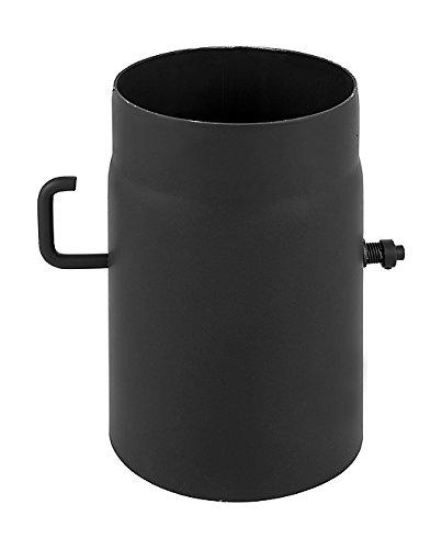 Darco WC di szk120-cz2canna fumaria 25cm con valvola a farfalla 2mm Senotherm UHT della 600, diametro 120mm, Nero DARCO SP. Z O.O. WC-SZK120-CZ2