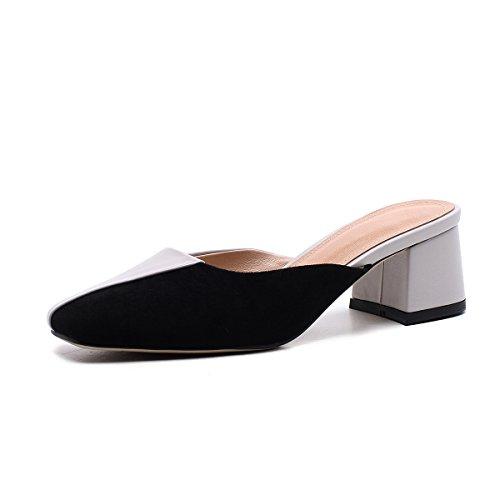Sandalias y Zapatos y y Segundo de ahuecados Comfort Carrera Vestido Mujer de Moda Transpirables Caminar para Trabajo PU Vestido Zapatos Carrera Fiesta Zapatos XUE y de de Pantuflas Summer Chanclas Noche 1YfxdqdFw
