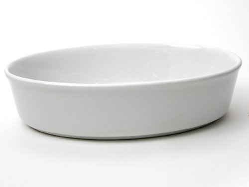 (Honey-Can-Do 8084 Porcelain Oval Baker, White, 11-Inches)