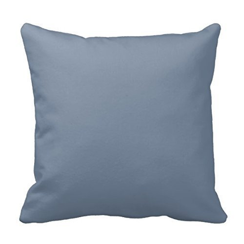 Price comparison product image VHJLI Dusty Blue Slate Grey Gray Solid Color Background Decorative Pillow Covers Personalized Custom Pillowcases 18 x 18 Inches
