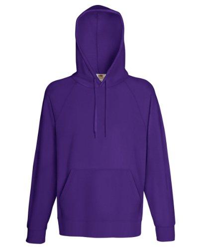 The Con Cappuccio Purple nbsp;nbsp;felpa Regular Fruit Of L Loom Lunghezza wOm0vN8n