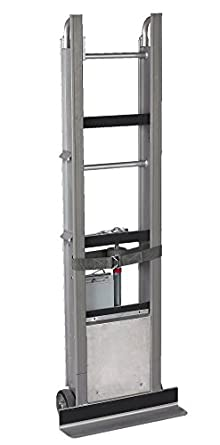 """Wesco 230051 Aluminum StairKing Battery Powered Stair Climbing Appliance Truck with Auto Rewind Ratchet, Moldon Rubber Wheels, 850-lb. Load Capacity, 24"""" Width x 66"""" Height x 12"""" Depth"""