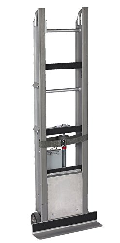 Wesco-230051-Aluminum-StairKing-Battery-Powered-Stair-Climbing-Appliance-Truck-with-Auto-Rewind-Ratchet-Moldon-Rubber-Wheels-850-lb-Load-Capacity-24-Width-x-66-Height-x-12-Depth