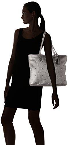 Plateado Silver Mujer y LYDC de G1701 hombro bolsos Shoppers wPxw0vR8