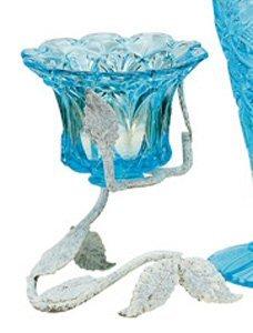 Fenton Art Glass Blue Topaz Vining Votive