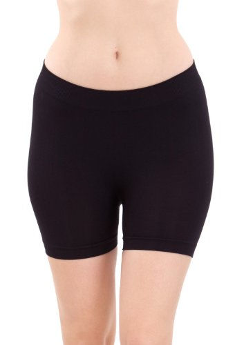 Clothes Effect Seamless Hot Shorts Black Hot Pants (One Size)