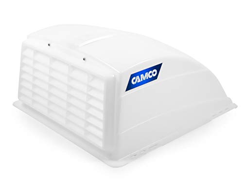 Camco RV Roof Vent Cover, Opens For Easy Cleaning, Aerodynamic Design, Easily Mounts to RV With Included Hardware - (White) -