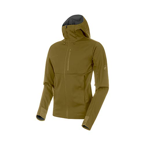 Mammut - Men's Ultimate V SO Hooded Jacket, Olive-Titanium Melange, Medium ()