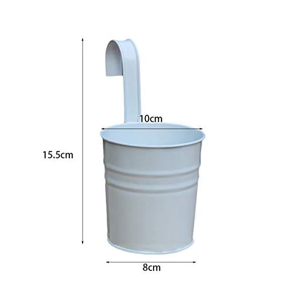 Depory metallo ferro solido colore vaso di fiori vaso da appendere per balcone o piante da giardino con gancio… 6 spesavip