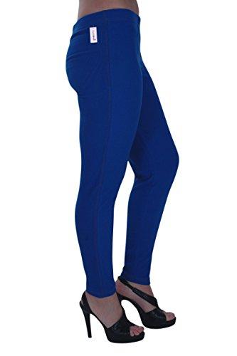 Jeggings 14 28 Ladies Size Trousers Womens Blue Pants Stretch Eyecatch Plus Royal Jeans Starla ZWvBqnf