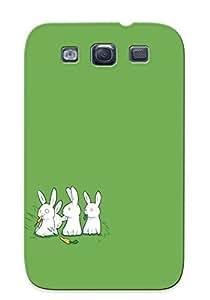 EXznzMa4168WjdWS With Unique Design Galaxy S3 Durable Tpu Case Cover Carnivore Bunny
