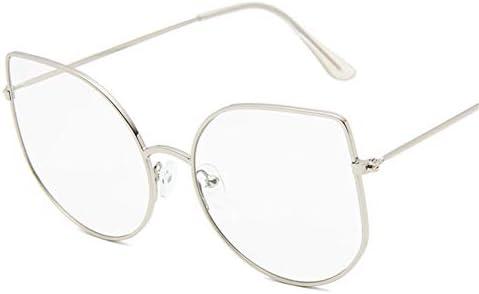YIERJIU Sonnenbrillen Neue Sonnenbrille Retro Metall Cat Eye Sonnenbrille Dame Vintage Schwarz Transparent Rahmen Oculos Feminino