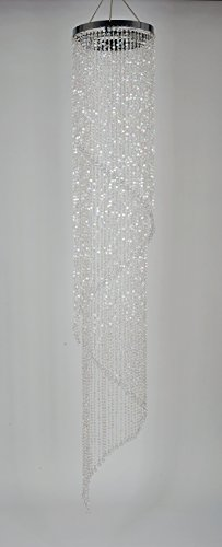 FlavorThings Faux Crystal Iridescent Beaded Long Spiral Wedding Chandelier,Swirling Chandelier,13 Diam 6 Feet Long,Great idea for Wedding Centerpieces Decorations and Any Event Party Home Decor