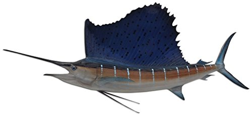 Sailfish Half Mount Fish Replicas - Different Sizes - Made for Indoors Or Outside - Ultimate Affordable Fish Mount Decor from Mount This Fish Company