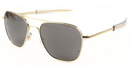 American Optical Original Pilot Bayonet 52mm Gold Color Correct Grey - Ao Eyewear Original Sunglasses Pilot 52mm