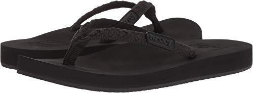 Reef Women's Ginger Flip-Flop, Black, 5 B-Medium (Using A Sponge While On Your Period)