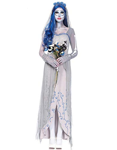 Ytwysj Women Adult Party Fancy Halloween Witch Vampire Costume Ghost Bride Costume Cosplay Irregular Maxi Dress