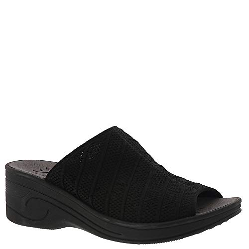 Easy Street Women's, Airy Mid Heel Wedge Sandals Black 9 M from Easy Street