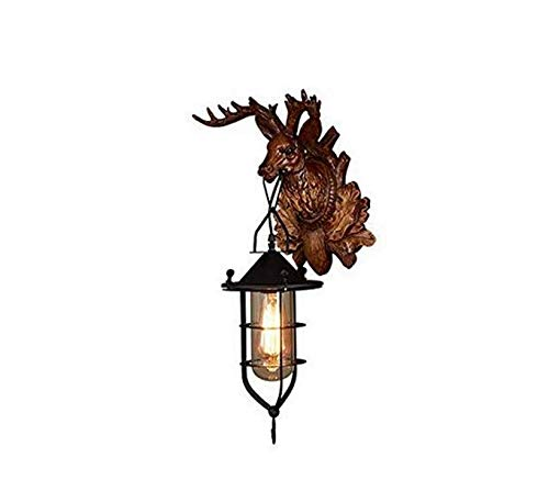 Lightvintage Style Resin Wall Lamp 1 Light Rural Countryside Antler Wall
