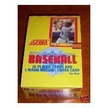 1990 Score MLB Baseball Unopened Box (36 packs per box, 16 cards/pack)