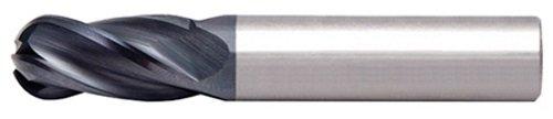 Alfa Tools SCB60675AL 3//8X3//8 4 Flute Center Cutting Ball Single End AlTiN Carbide Mill Made In USA,