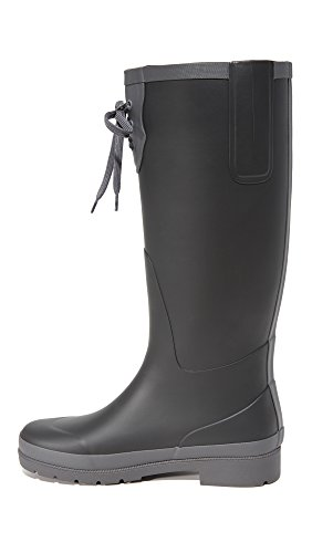 Tretorn Rain Women's Boot Lacey Dark Black Grey FHFwxRCqE