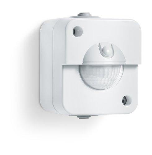 Steinel 750114 Detector de movimiento IR 180 UP, blanco, toma empotrada, IP20, Clase de aislamiento II, para interiores, 180° ángulo de detección: ...