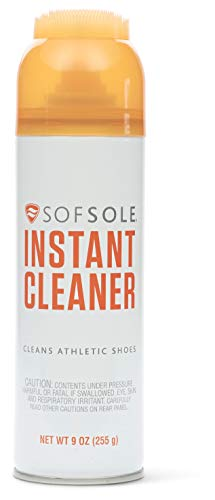 Sof Sole Instant Cleaner Foaming Stain Remover for Athletic Shoes, 9-Ounce