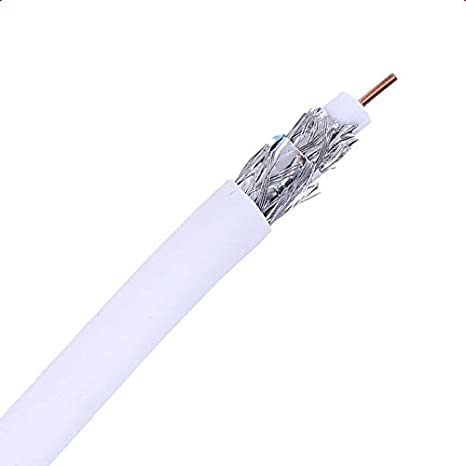 300m Cable Coaxial RG59 Cobre-Aluminio Antena TV Blanco efectoLED