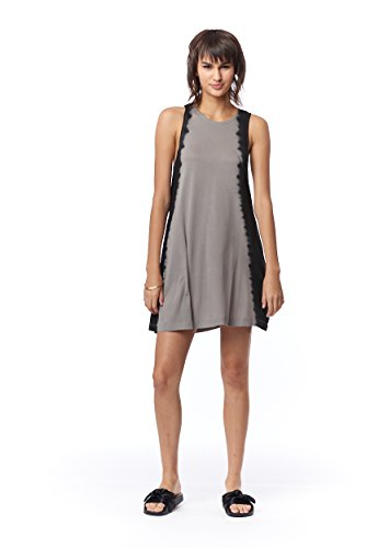 66bcd9b74a Lagaci Women's Super Soft Tie Dye Dress L Black