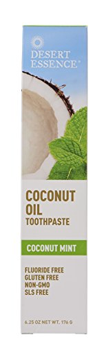 Desert Essence Toothpaste, Coconut Oil Mint, 6.25 Ounce (Coconut Mint Toothpaste)