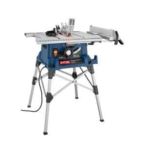 Ryobi 10 in portable table saw with stand power table for 10 portable table saw