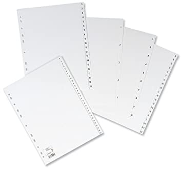 5 Star Index Multipunched 120 micron Polypropylene A-Z A4 White