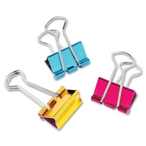 Baumgartens Metallic Colored Binder Clip,Mini - 0.50